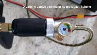 Compressor 12v P/ PCP Até  300 Bar - 2o. Teste, Ligado Na Bateria Do Carro!