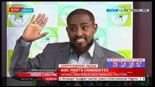 Presidential Aspirant Abduba Dida addresses IEBC over signatures