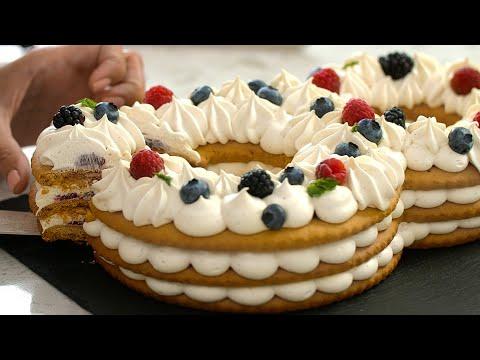 Красивый и вкусный рецепт торта цифры