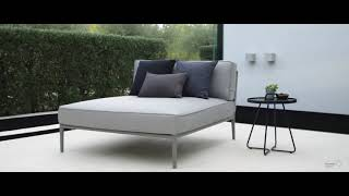 Cane-line Conic Daybed Modul inkl. Airtouch Kissensatz, grau