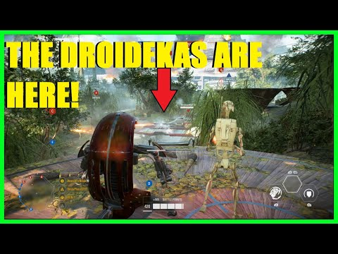 Star Wars Battlefront 2 - HERE ARE OUR DROIDEKAS!   NEW Droideka Gameplay! (Capital Supremacy)