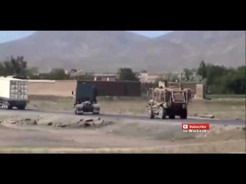 www Muviza net Taliban IED Sends Afghan National Army MRAP Flying   Afghanistan War 2015