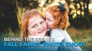 Fall Family Photo Shoot | Behind The Scenes, Natural Outdoor Lighting | Full-time RV Family | Ep 96