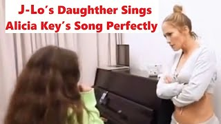 "Jennifer Lopez Daughter Emme Sings Alicia Keys Song ""If I Ain't Got You"""