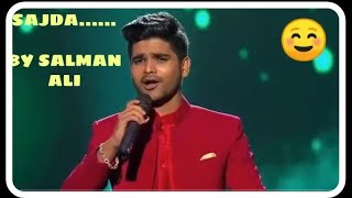 SAJDA By Salman Ali WITH LYRICS || Indian Idol   - YouTube