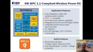 P9022 Enhanced WPC 1.1 Qi Wireless Power Receiver by IDT