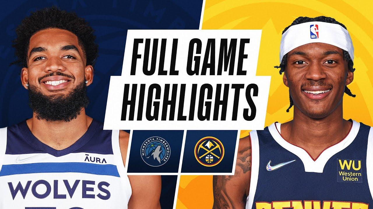 TIMBERWOLVES at NUGGETS | NBA PRESEASON FULL GAME HIGHLIGHTS | October 8, 2021