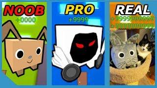 NOOB VS PRO VS REAL LIFE - ROBLOX PET SIMULATOR VERSION *FUNNY!*
