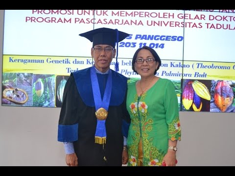 Dok Humas Untad, Ujian Promosi Prog  Doktor Untad  Dr  Johanis  Panggeso Disk 1