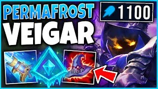 *INSANE STACKS* NEW GLACIAL AUGMENT VEIGAR STRATEGY (1100+ AP) - League of Legends