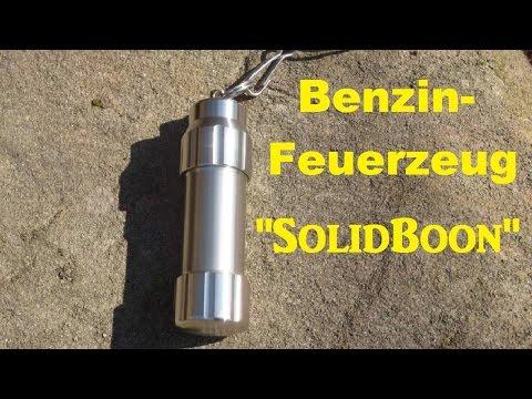 """Benzinfeuerzeug """"SolidBoon"""" (Outdoor Feuerzeug) Vorstellung+Test"""