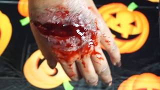 Easy Halloween FX Scar Makeup 2018 | LATEX, SILICONE and WAX-FREE