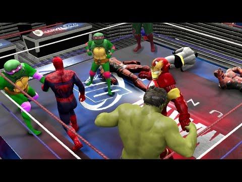 Download WWE PS4 ROYAL RUMBLE - Hulk Vs Spiderman Vs Iron Man Vs Wolverine Vs Batman Vs Venom Vs Joker HD Mp4 3GP Video and MP3