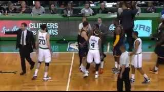 Kendrick Perkins punches Jae Crowder! (Revenge for Kevin Love