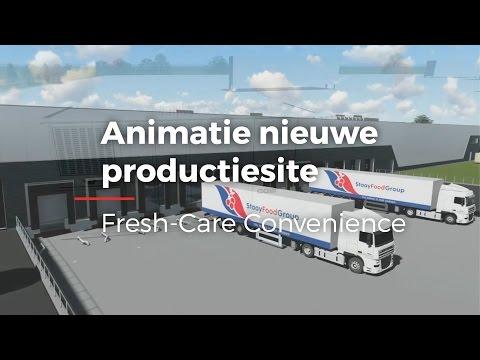 Fresh-Care maakt animatie van nieuwe fabriek in Dronten