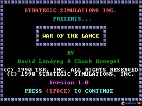 War of the Lance gameplay (PC Game, 1989)