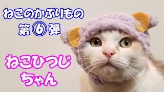 猫のかぶりものガチャ第6弾、かわいいかわいいねこひつじちゃん♪ Cat