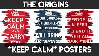 The Origins Of Keep Calm Poster | CheapKnowledge