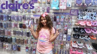NO LiMiT NO BUDGET IPHONE CASE SHOPPiNG CHALLENGE AT CLAiRES!