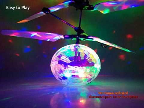 Geekercity Mini Flying RC Drone Helicopter Infrared Induction LED