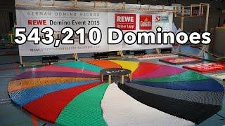 543,210 Dominoes - Dominoland - 3 Guinness World Records   4K