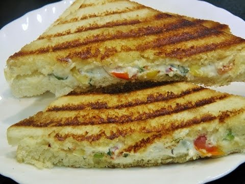 Crispy  & Creamy Yogurt Sandwich / Curd Sandwich by madhurasrecipe / Quick Breakfast Recipe