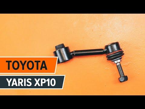 Come sostituire biellette barra stabilizzatrice anteriore su TOYOTA YARIS XP10 TUTORIAL | AUTODOC