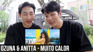 COREANOS REAGINDO Ozuna & Anitta   Muito Calor ( Video Oficial ) [REACTION] [REACT]