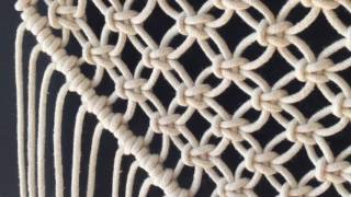 How To Do Macrame Knots - DIAGONAL DOUBLE HALF HITCH