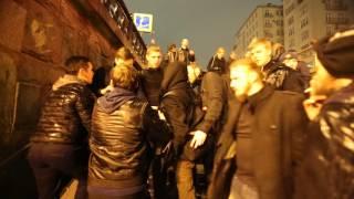 Лев против - драка в переходе на Болотной площади
