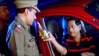 M.S Narayana Drunk And Drive Case Funny Scenes || TFC Comedy Time
