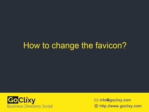 GoClixy - How to change the Favicon?