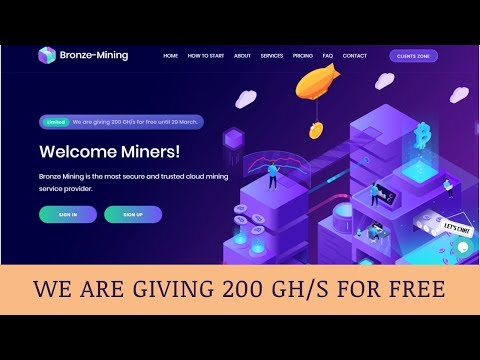 Bronze-mining.com отзывы 2019, mmgp, обзор, Cryptocurrency Cloud Mining, get 200 GH/s for free