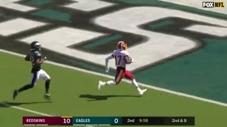 Terry McLaurin first career NFL TD catch from Case Keemun // Redskins vs. Eagles Touchdown