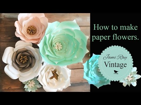 How to make paper flowers naijafy how to make paper flowers play mightylinksfo