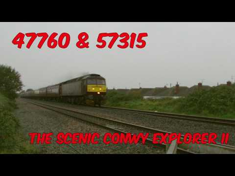 WCR 47760 & 57315 pass Prestatyn with 'The Scenic Conwy Expl…