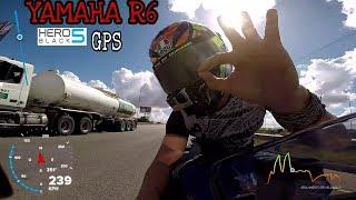 YAMAHA R6 Velocidad Gps   Gopro Hero5