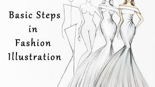 Steps In Fashion Illustration