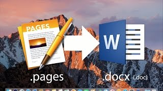 How to Export iWork Documents to Microsoft Office Formats