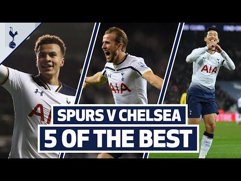 5 OF THE BEST   SPURS BEST HOME GOALS V CHELSEA   Son, Bale, Kane, Sheringham & Dele