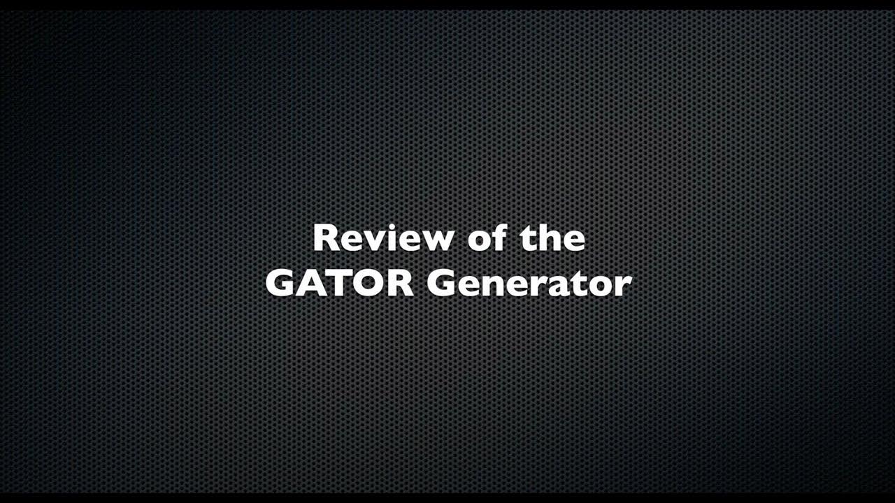 Introducing the GATOR Generator
