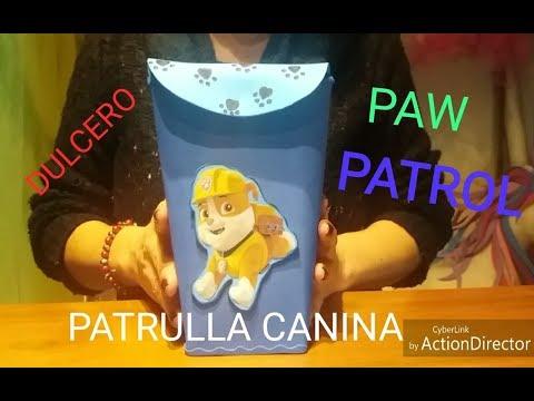 DULCERO MOCHILA PATRULLA CANINA. PAW PATROL