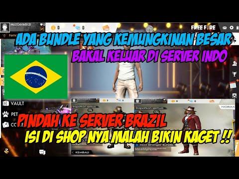 PINDAH KE SERVER BRAZIL LIAT ISI SHOP NYA MENGEJUTKAN !! - FREE FIRE INDONESIA