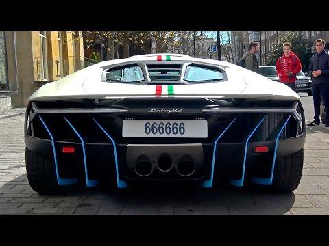 Lamborghini Centenario 2,5 triệu USD quẫy cùng dàn siêu xe trên phố