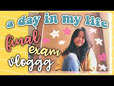 [VLOG] 😓 MỘT NGÀY HỌC THI SẤP MẶT 📚🤓 A Day In My Life (Final-Exam Day Vlog) | Diane Le