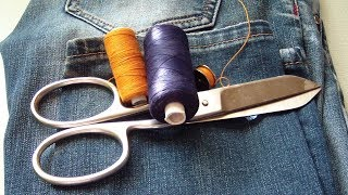 How To Cut And Hem Jeans On Sewing Machine