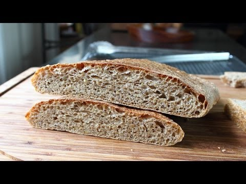 "Whole Wheat Ciabatta – No-Knead Whole Wheat ""Slipper"" Bread Recipe"