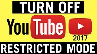 How To Turn Off Restricted Mode On Youtube