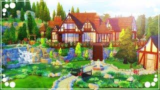 HILLSIDE TUDOR MANSION (EXTERIOR) - REBUILDING WINDENBURG | The Sims 4 | Speed Build