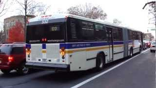preview picture of video 'Liberty Lines Transit: Neoplan AN-460A #532 W60 @ E. Fordham Road and 3rd Avenue!'